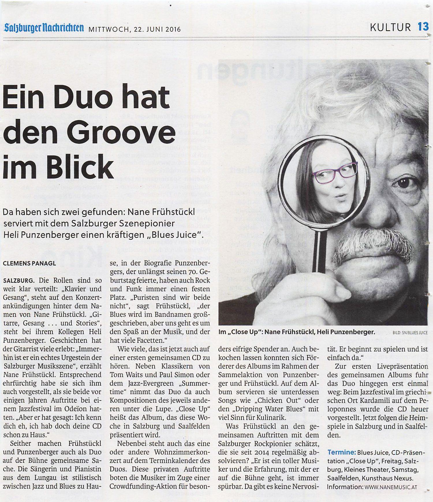 20160622 BluesJuice SN BER 1 - Ein Duo hat den Groove im Blick – SN vom 22.06.2016