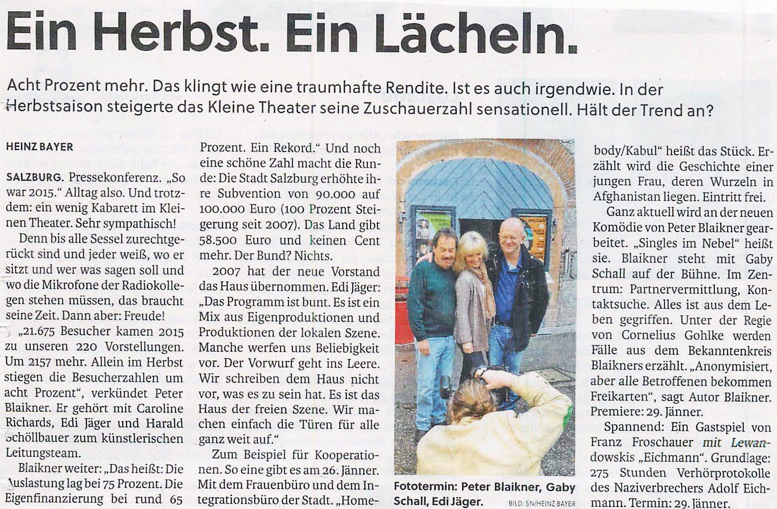 SN Presse 1 - Presserundschau: Programmvorschau 2016/1-6