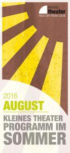 Programmheft August 2016