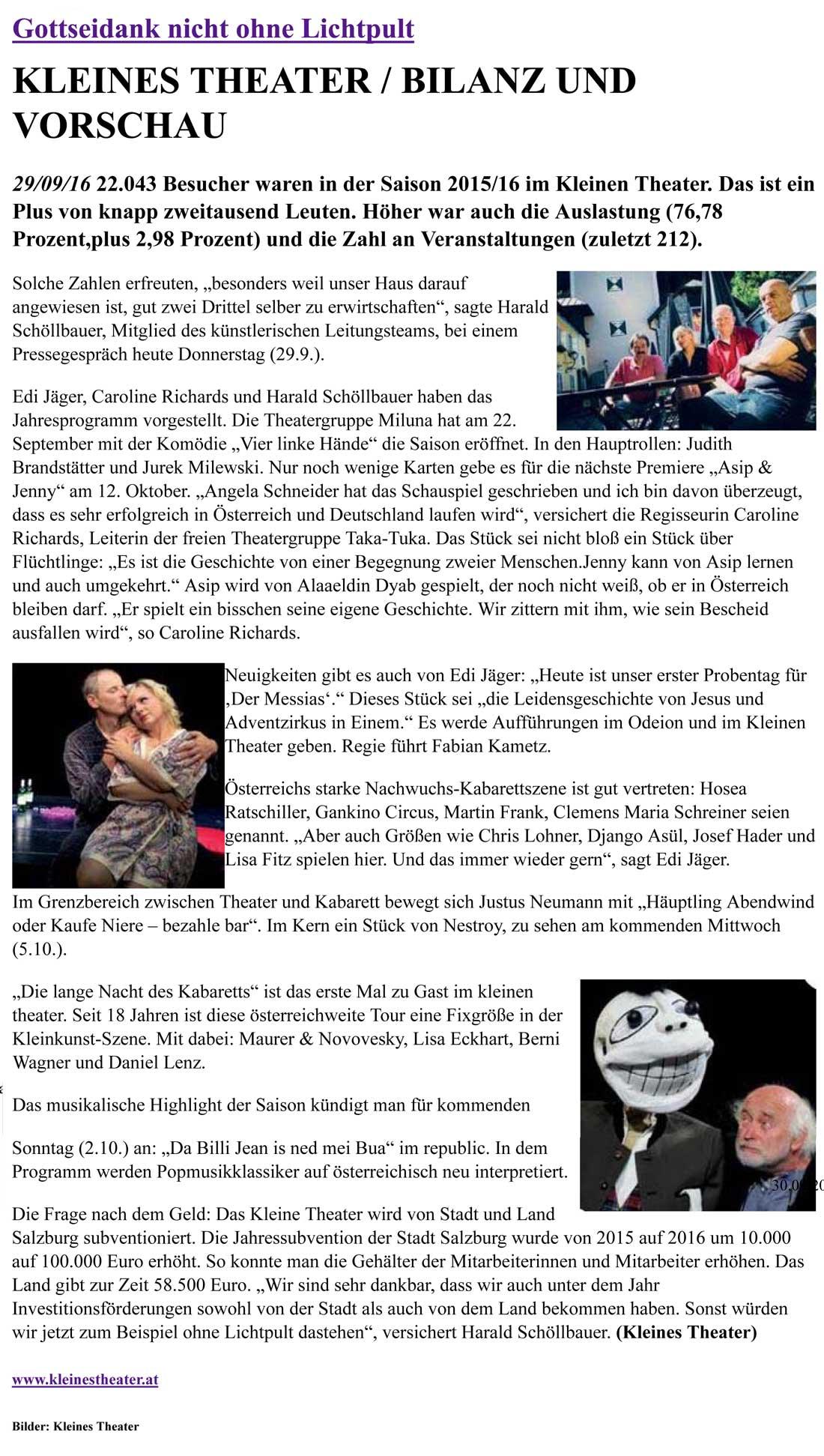 201060929 Drehpunkt Gottseidank nicht ohne Lichtpult - Gottseidank nicht ohne Lichtpult - Drehpunktkultur vom 29.09.2016