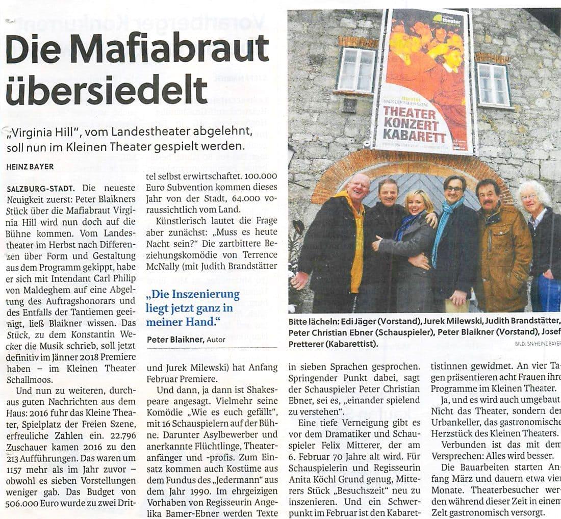 20170112 Pressekonferenz VirginiaHill SN 1 - Die Mafiabraut übersiedelt - SN vom 12.01.2017