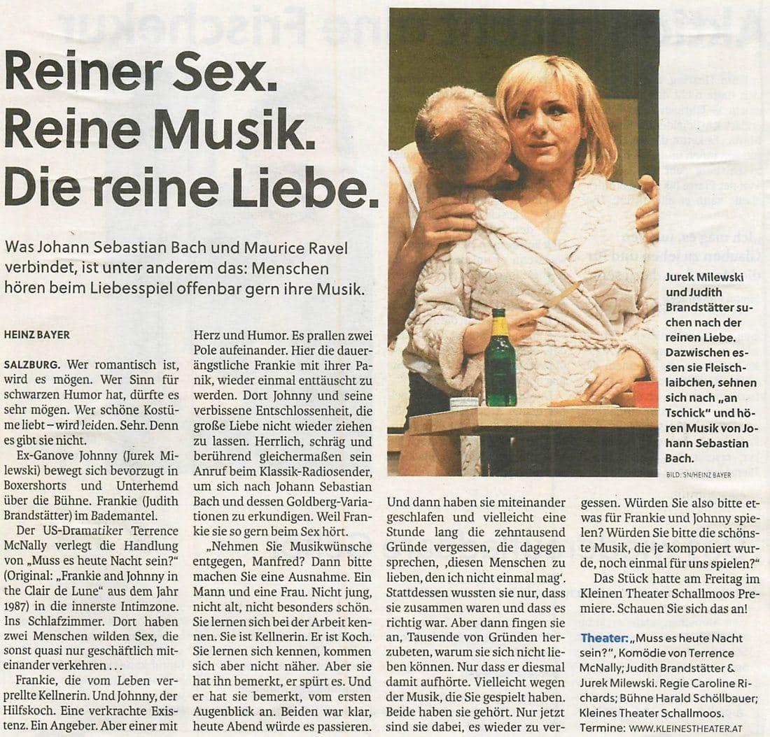 20170204 KRI MussesheuteNachtsein SN - Reiner Sex. Reine Musik. Die reine Liebe. - SN vom 04.02.2017