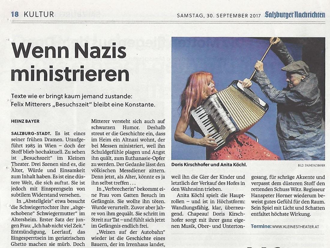 2017 09 30 Kleines Theater  Wenn Nazis ministrieren   sn - Wenn Nazis ministrieren - SN vom 30.09.2017