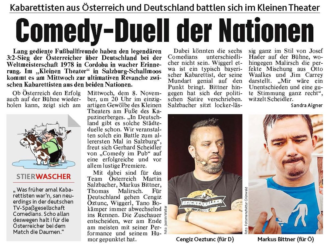 20171106 BER Krone Comedy Battle - Comedy-Duell der Nationen - Kronenzeitung vom 06.11.2017