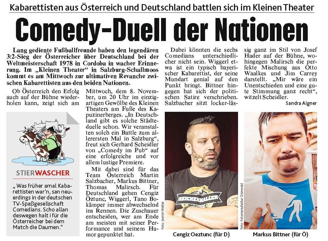 20171106 BER Krone Comedy Battle - Comedy-Duell der Nationen - Kronenzeitung vom 06.11.2017