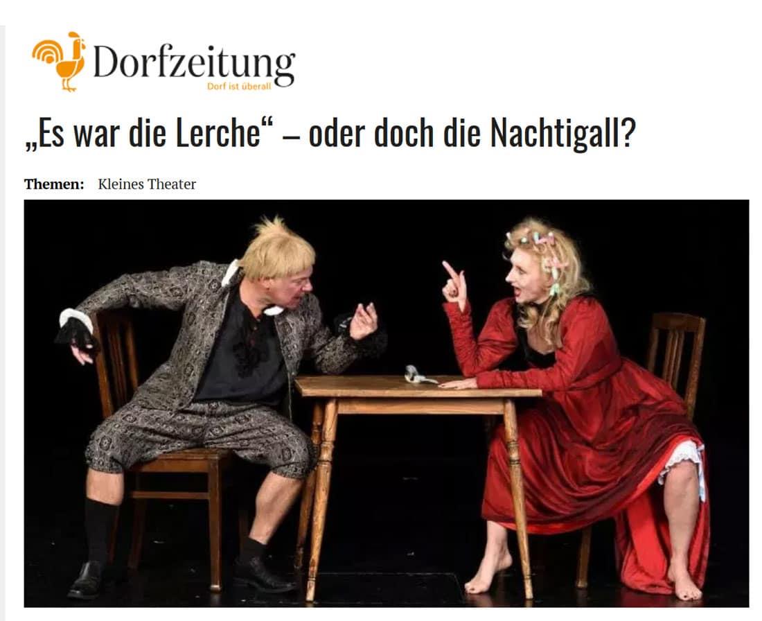 """2019 05 26 DZ Lerche01 - """"Es war die Lerche"""" – oder doch die Nachtigall?"""