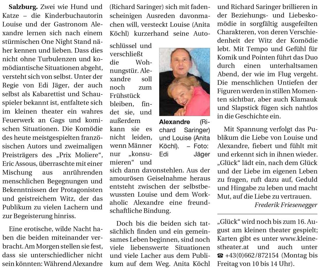 201900510 KRI ReichhallerTagblatt Glueck 02 - Plädoyer für die Liebe - Reichenhaller Tagblatt vom 10.05.2019