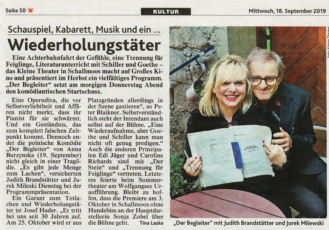 20190918 BER Krone Saisonstart Pressekonferenz - Wiederholungstäter - Kronenzeitung vom 18.09.2019