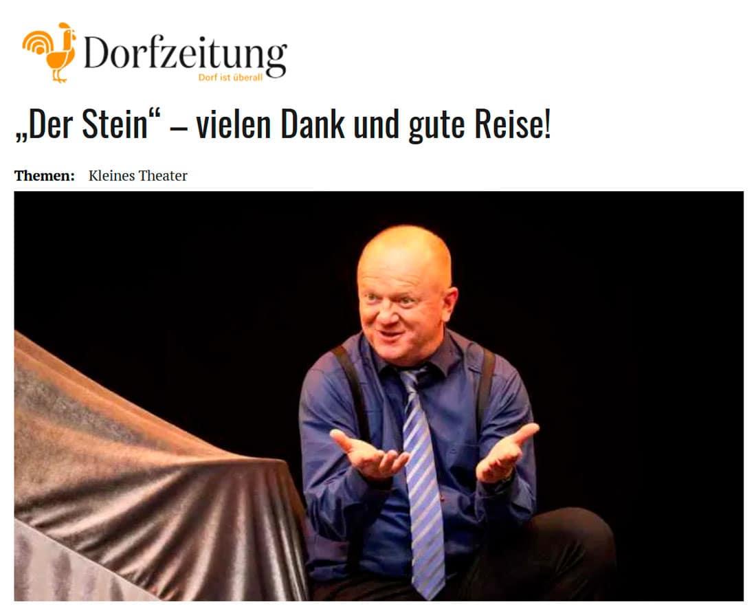 """20191028 dorfzeitung stein 01 - """"Der Stein"""" – vielen Dank und gute Reise! - Dorfzeitung vom 28.10.2019"""