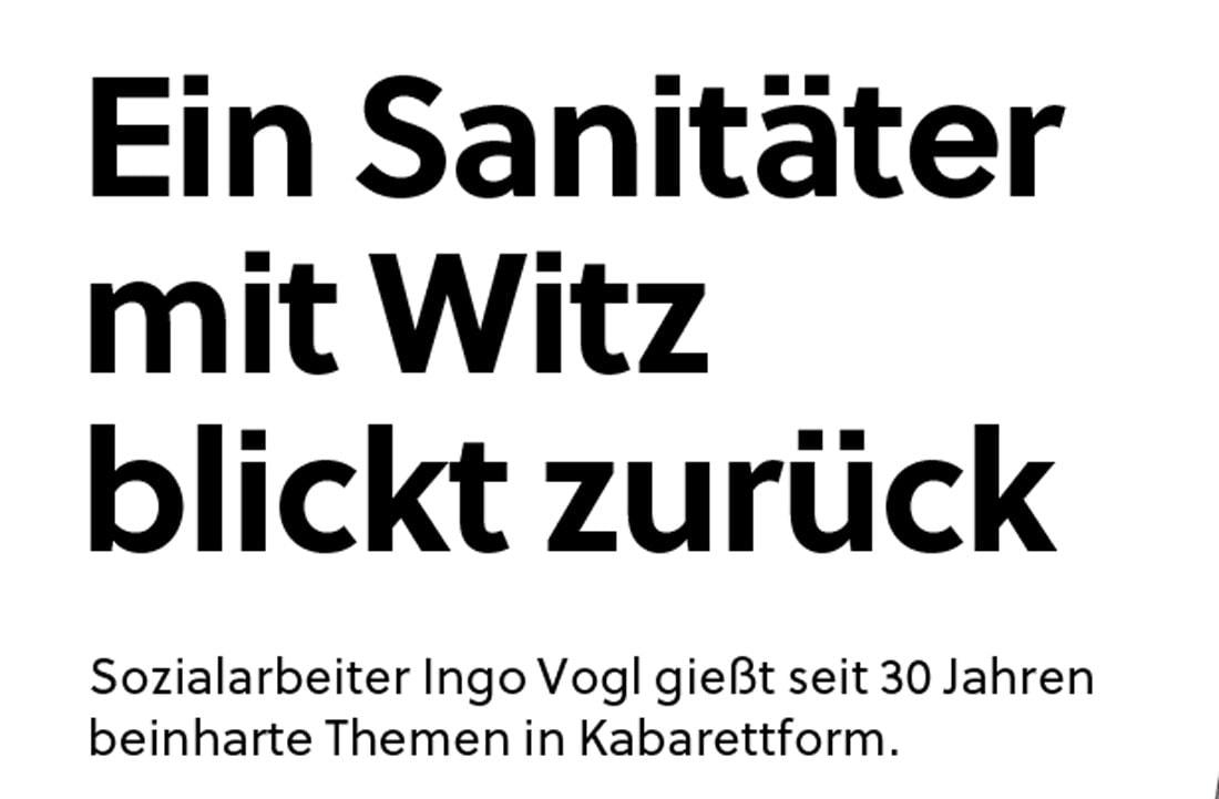 20191102 BER SN IngoVogl 01 - Ein Sanitäter mit Witz blickt zurück - SN vom 02.11.2019