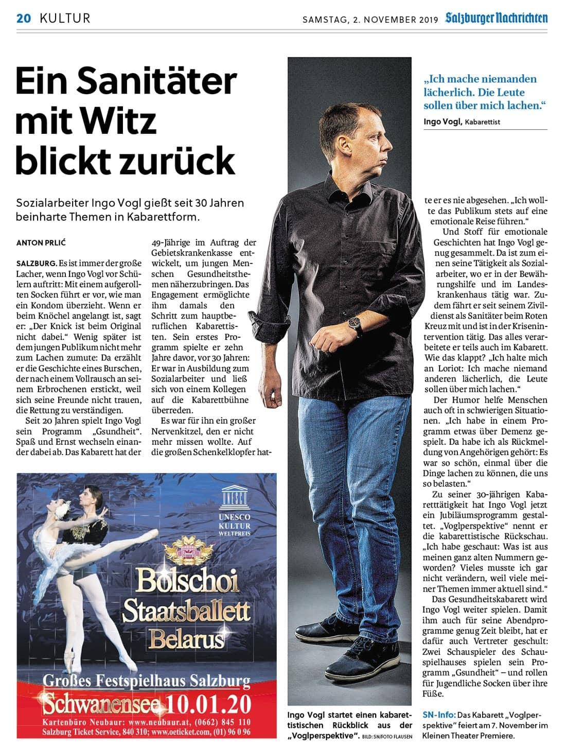 20191102 BER SN IngoVogl 02 - Ein Sanitäter mit Witz blickt zurück - SN vom 02.11.2019
