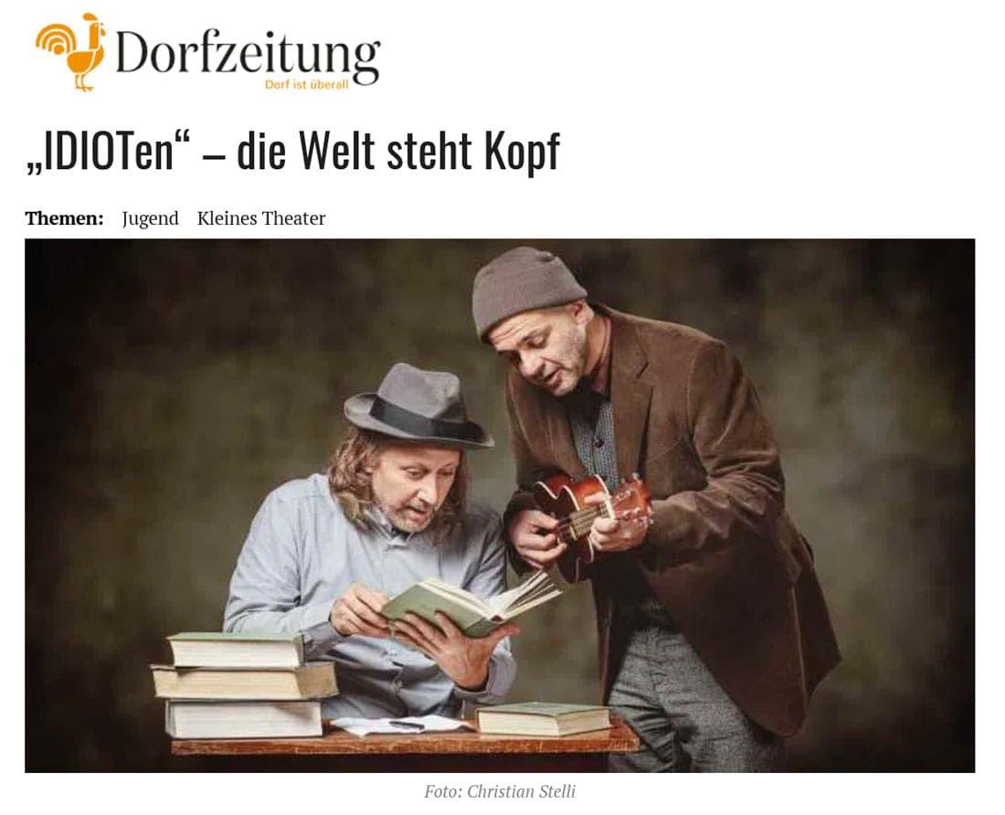 2019 12 10 dorfzeitung idioten 01 - IDIOTen - die Welt steht Kopf - Dorfzeitung vom 10.12.2019