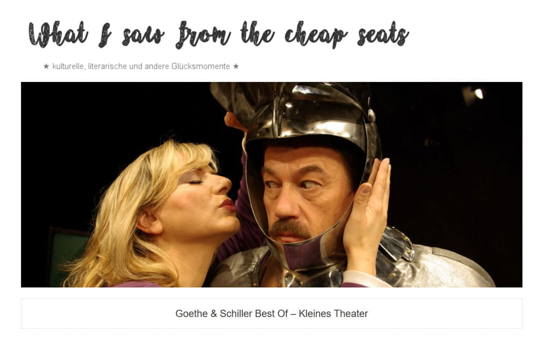 "2019 12 13 wisftcs gotheschiller 01 - ""Goethe & Schiller Best Of"" im kleines theater - What I saw from the cheap seats vom 13.12.2019"