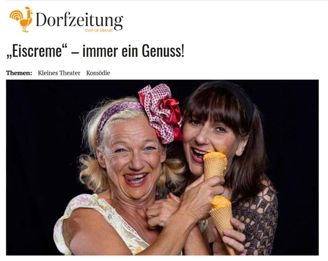 """200117 DZ Eiscreme 01 - """"Eiscreme"""" – immer ein Genuss! - Dorfzeitung vom 24.01.2020"""