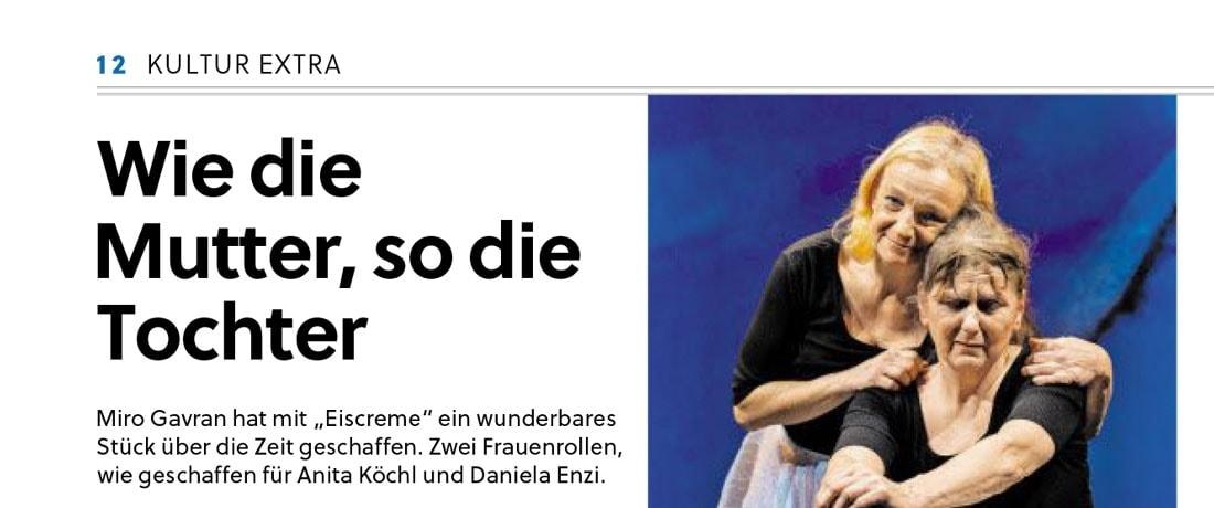 20200117 KRI Probe Eiscreme Pressekonferenz SN 01 - Wiedie Mutter, sodie Tochter - SN vom 17.01.2020