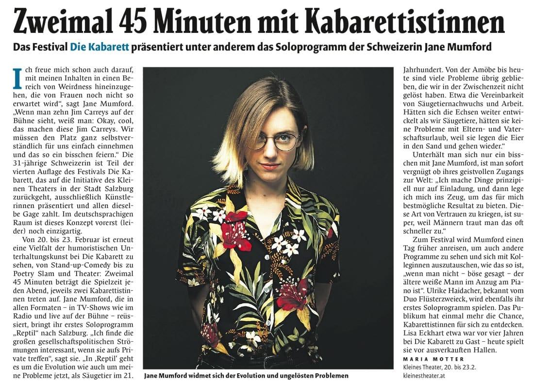 20200219 BER DIEKABARETT Falter - Zweimal 45 Minuten mit Kabarettistinnen - Falter vom 20.02.2020