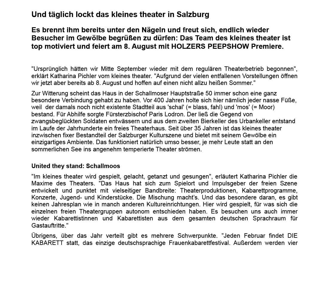 2020 07 15 wisftcs 02 - Und täglich lockt das kleines theater in Salzburg - What I saw from the cheap seats vom 15.07.2020